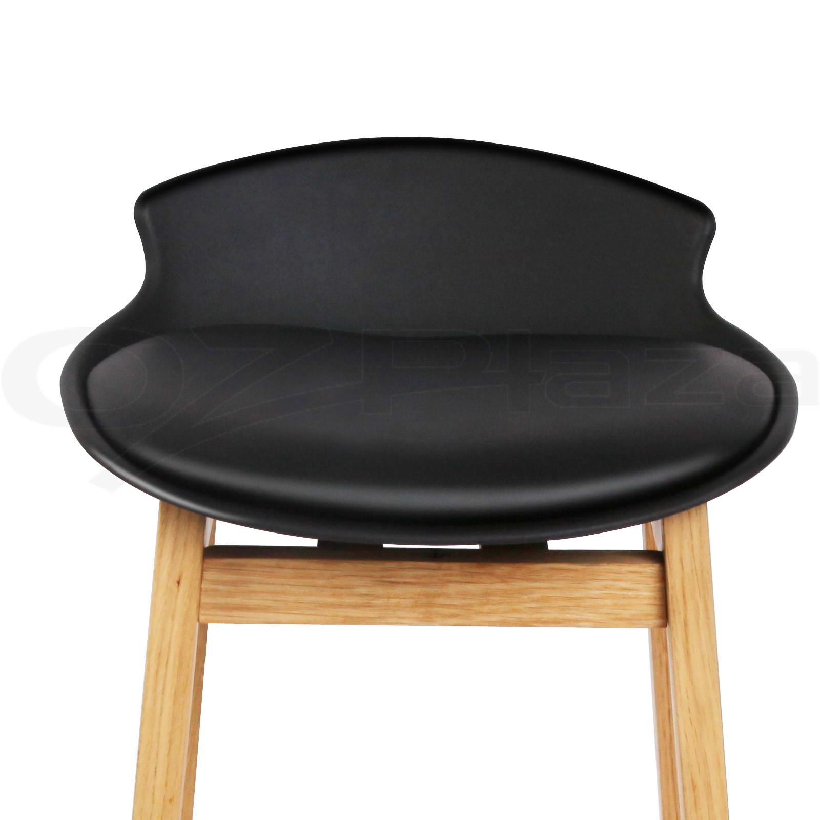 2x Oak Wood Bar Stools Wooden Barstool Dining Chairs  : BA F 3621 BKX2 P10 from www.ebay.com.au size 1600 x 1600 jpeg 126kB