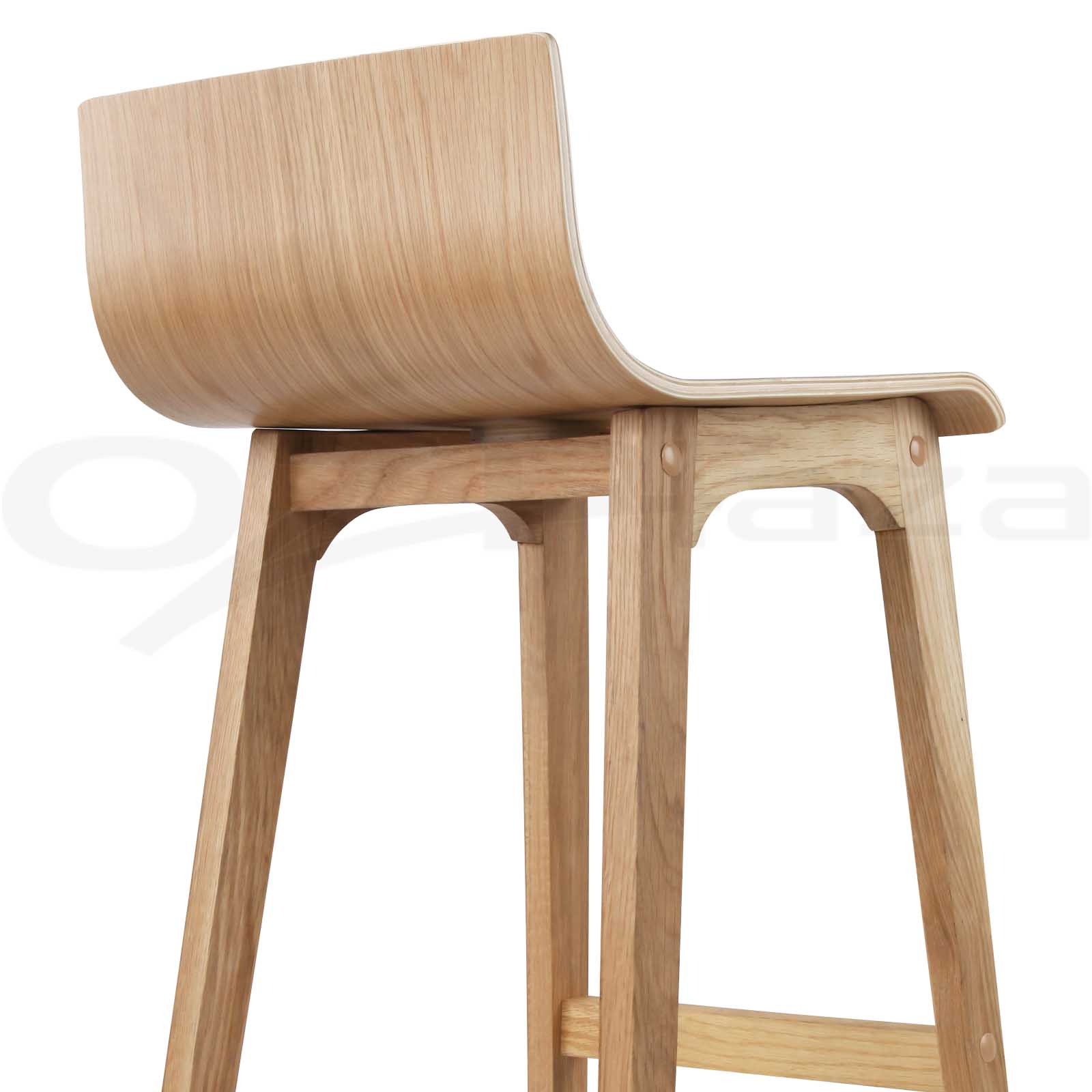 2x 4x Oak Wood Bar Stool Wooden Barstool Timber Dining