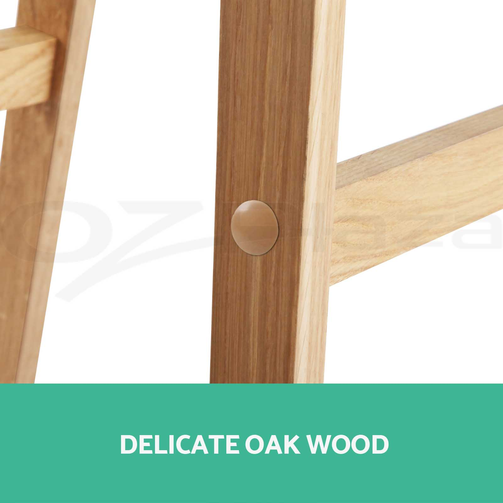 2x 4x Oak Wood Bar Stool Wooden Barstool Timber Dining