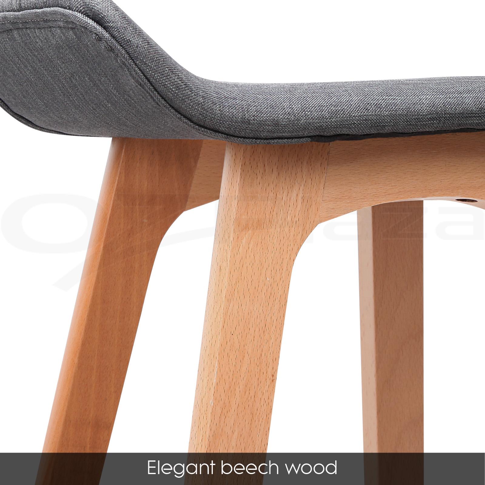 4x Wooden Bar Stools Kitchen Barstool Fabric Foam Seat  : BA TW T1568 BKX4 P03 from www.ebay.com.au size 1600 x 1600 jpeg 533kB