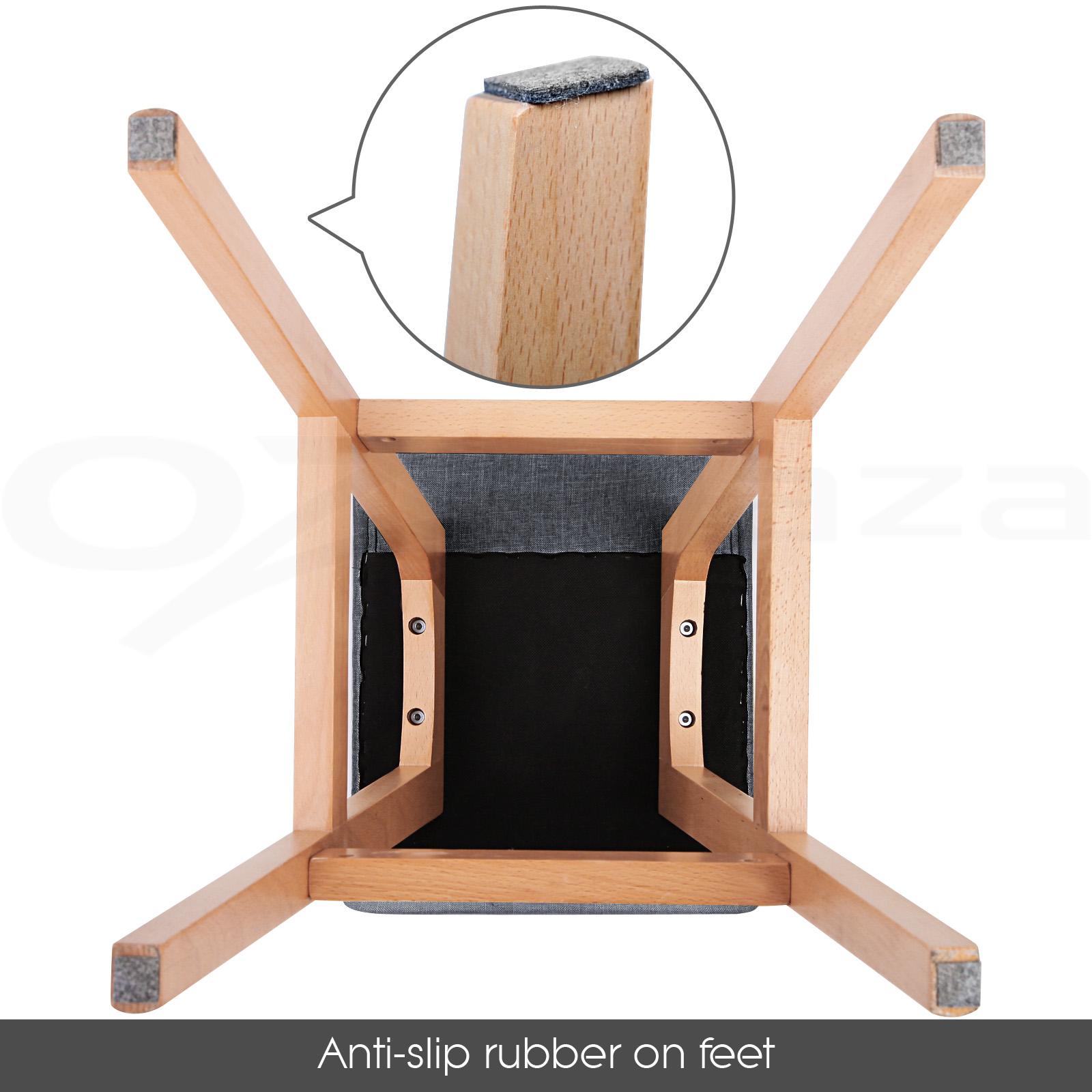 4x Wooden Bar Stools Kitchen Barstool Fabric Foam Seat  : BA TW T1568 BKX4 P05 from www.ebay.com.au size 1600 x 1600 jpeg 346kB