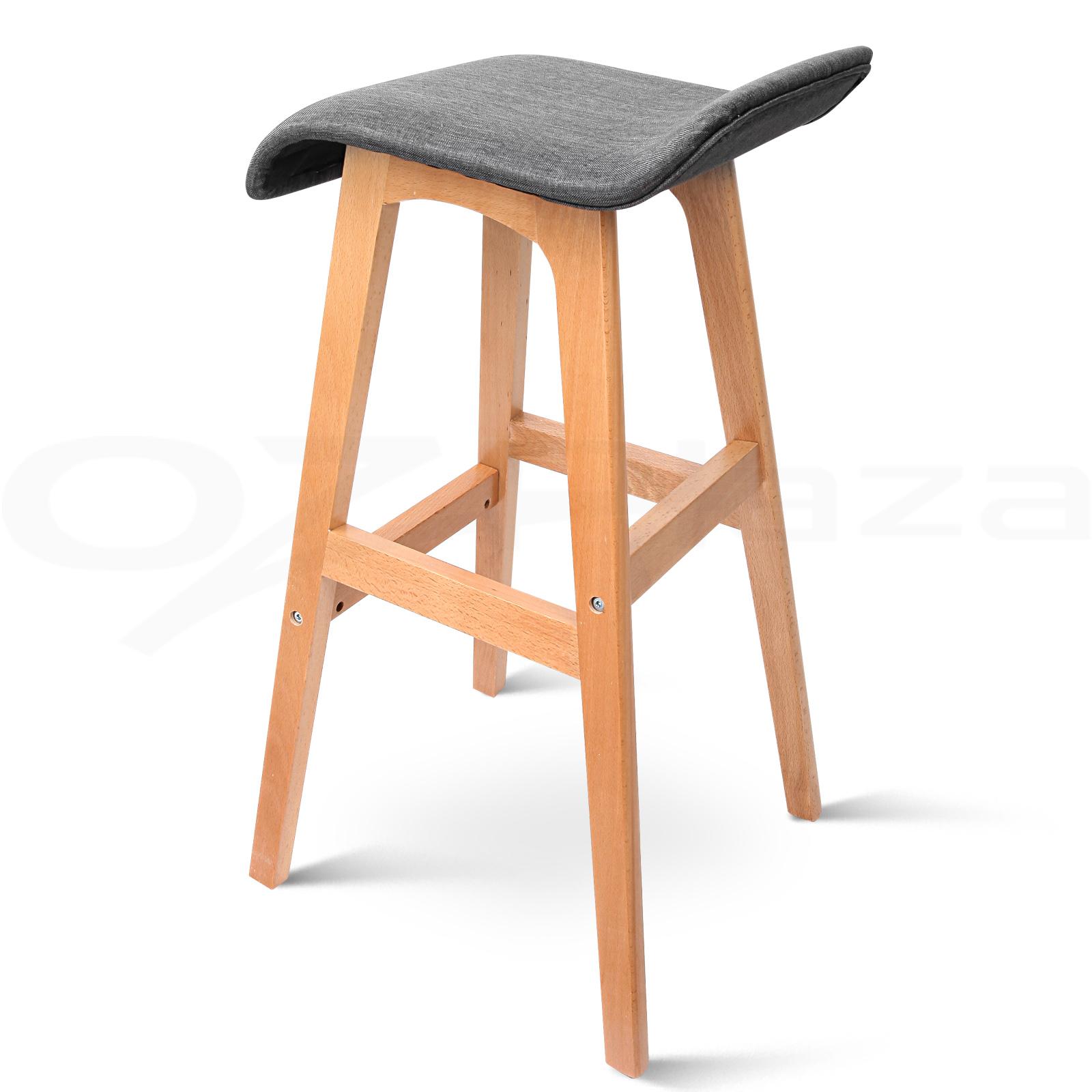 4x Wooden Bar Stools Kitchen Barstool Fabric Foam Seat  : BA TW T1568 BKX4 P07 from www.ebay.com.au size 1600 x 1600 jpeg 442kB