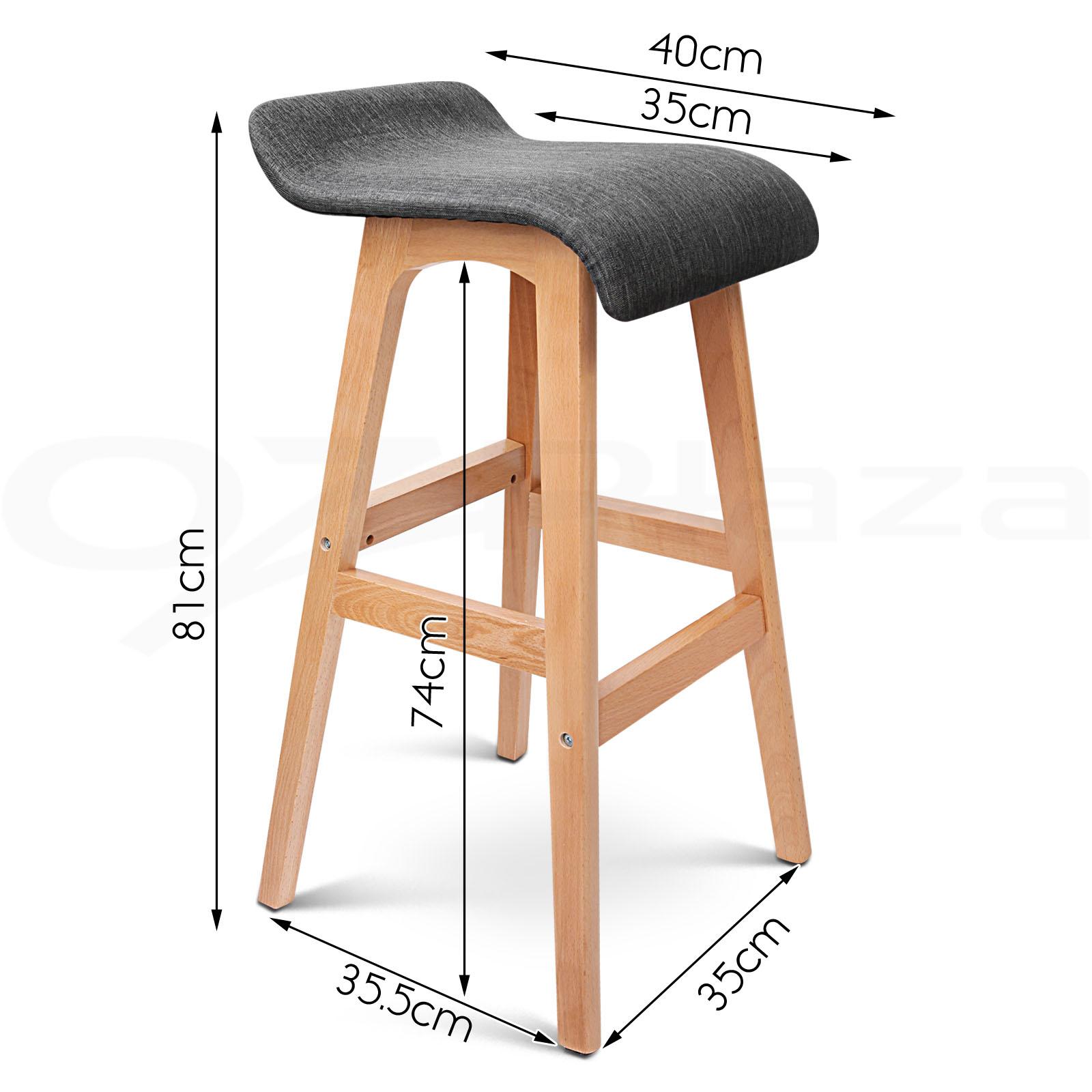 4x Wooden Bar Stools Kitchen Barstool Fabric Foam Seat  : BA TW T1568 BKX4 P10 from www.ebay.com.au size 1600 x 1600 jpeg 236kB