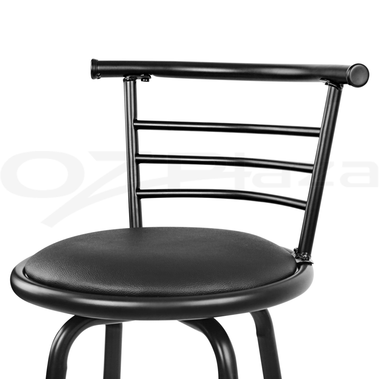 Swivel Counter Stool Bar Stool High Chair Black Kitchen: 4x Bar Stools PU Leather Barstool Swivel Backrest Kitchen