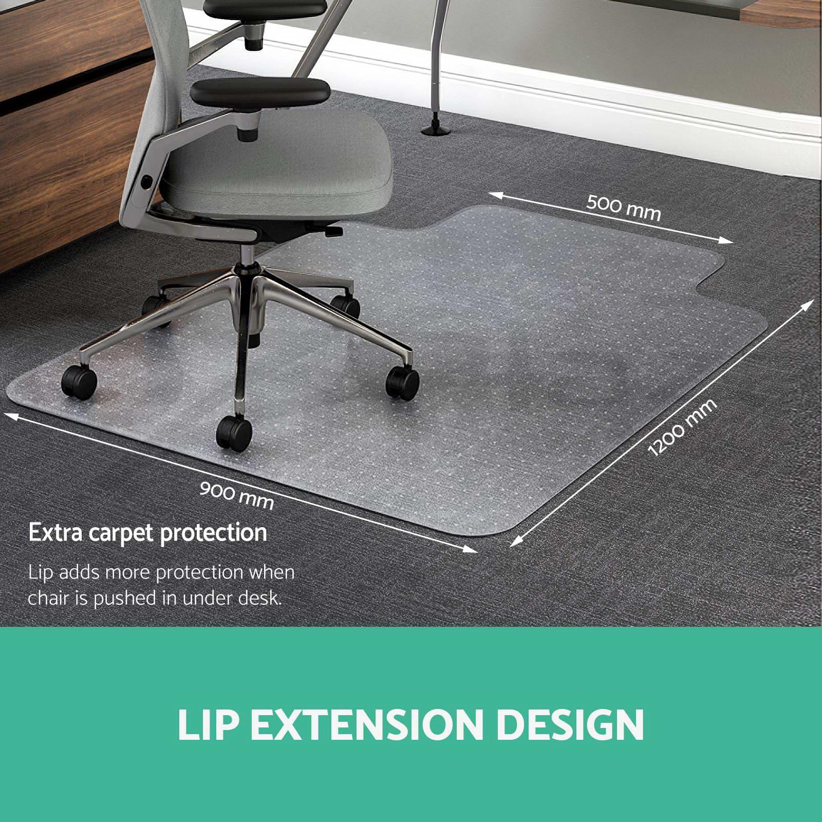 New Carpet Floor Office Computer Work Chair Mat Vinyl Plastic 1200 x 900mm