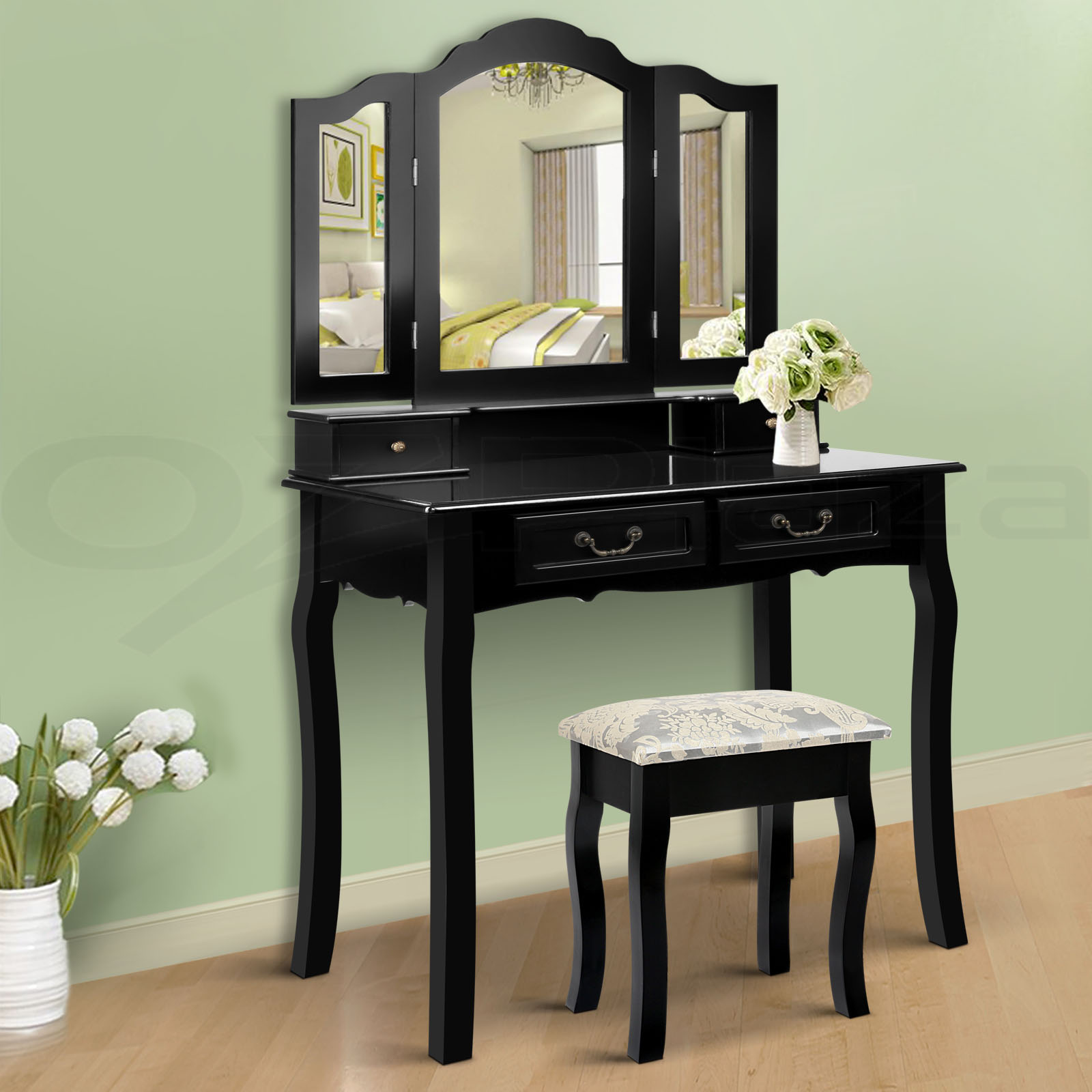 Luxury Dressing Table Stool Mirrors Jewellery Cabinet 4