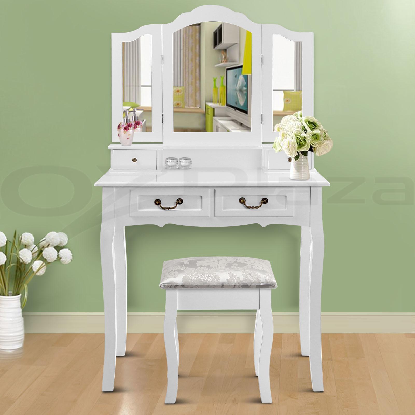 Luxury Dressing Table & Stool Mirrors Jewellery Cabinet