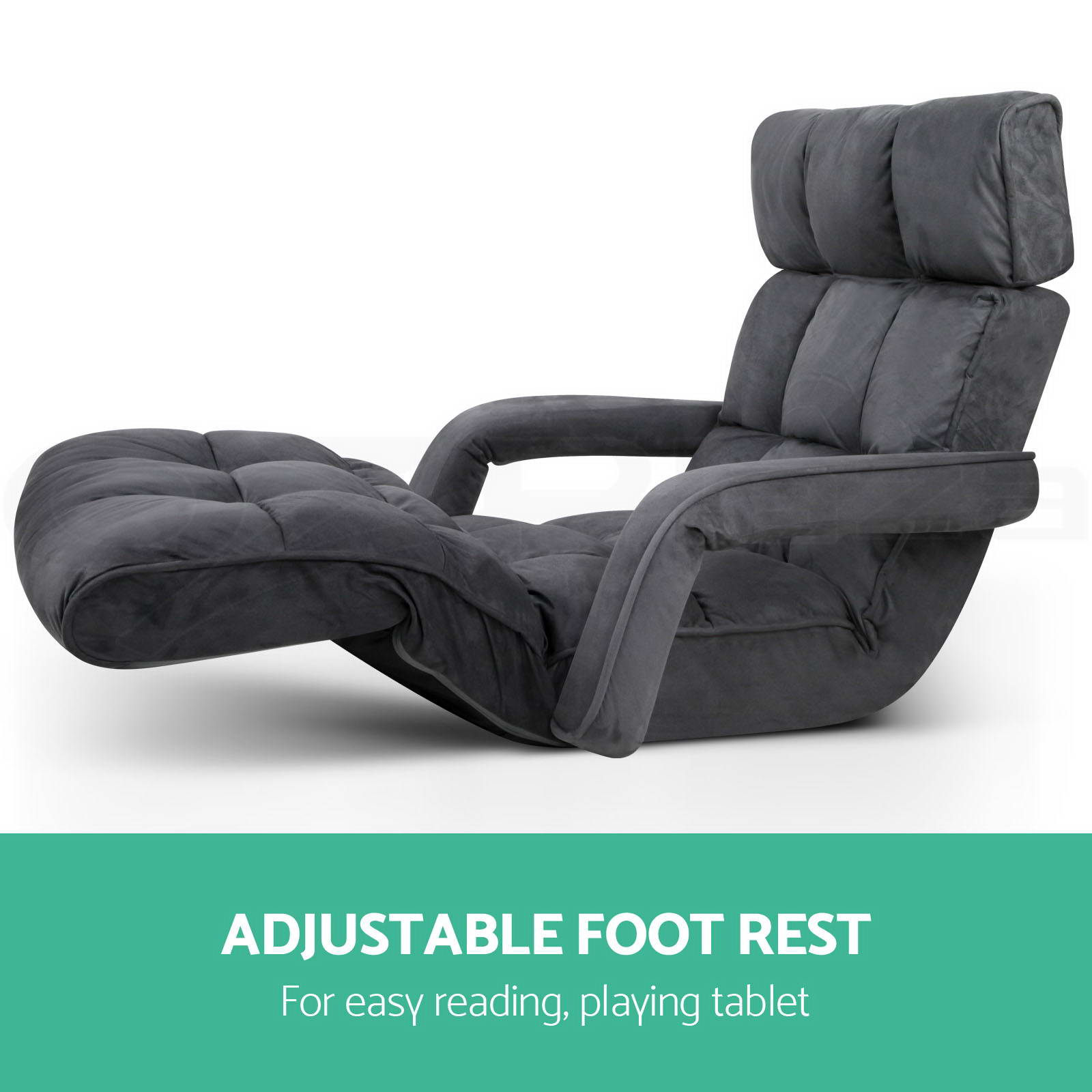 Lounge Sofa Bed Floor Armchair Folding Recliner Chaise Chair