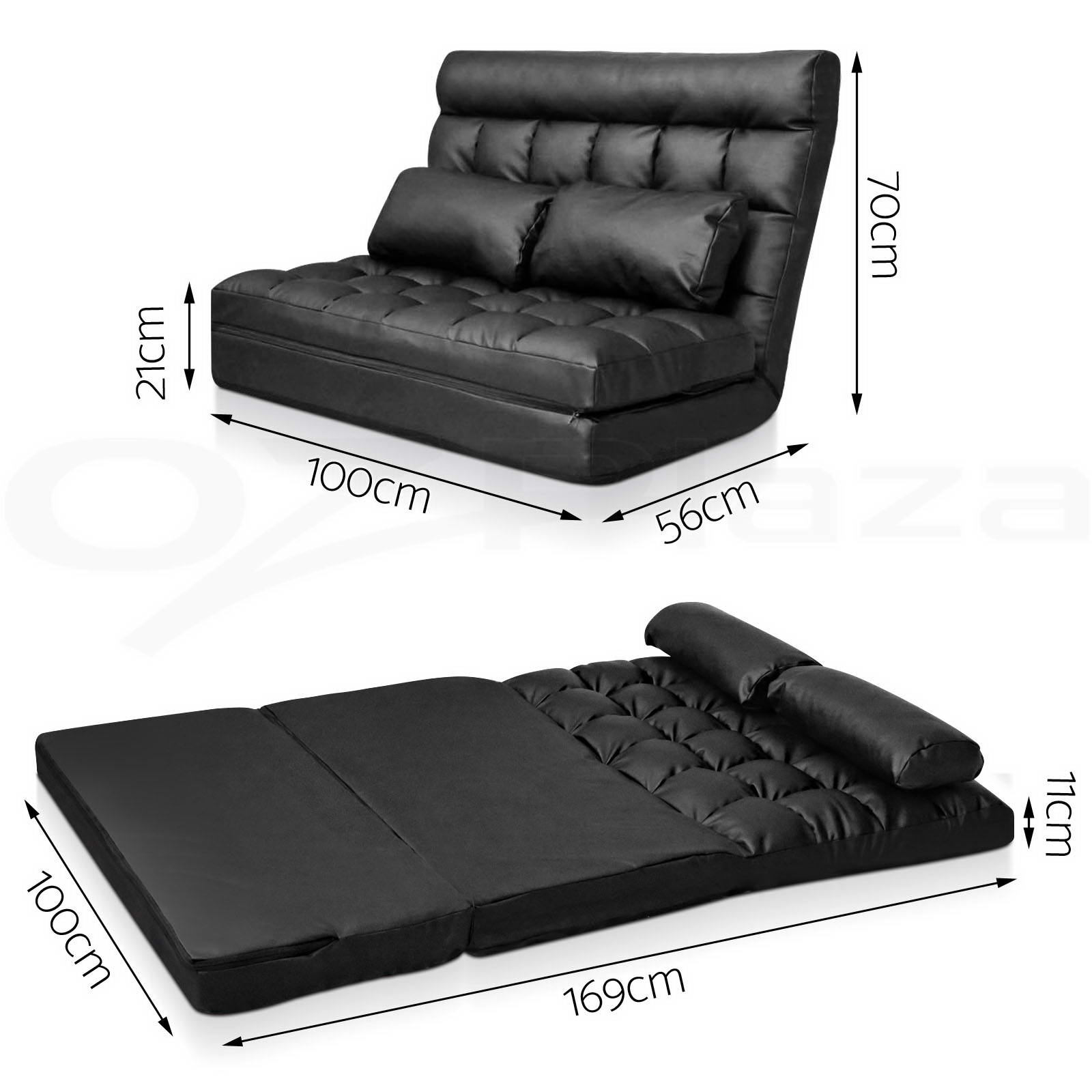 Details about Lounge Sofa Bed DOUBLE SIZE Floor Recliner Folding