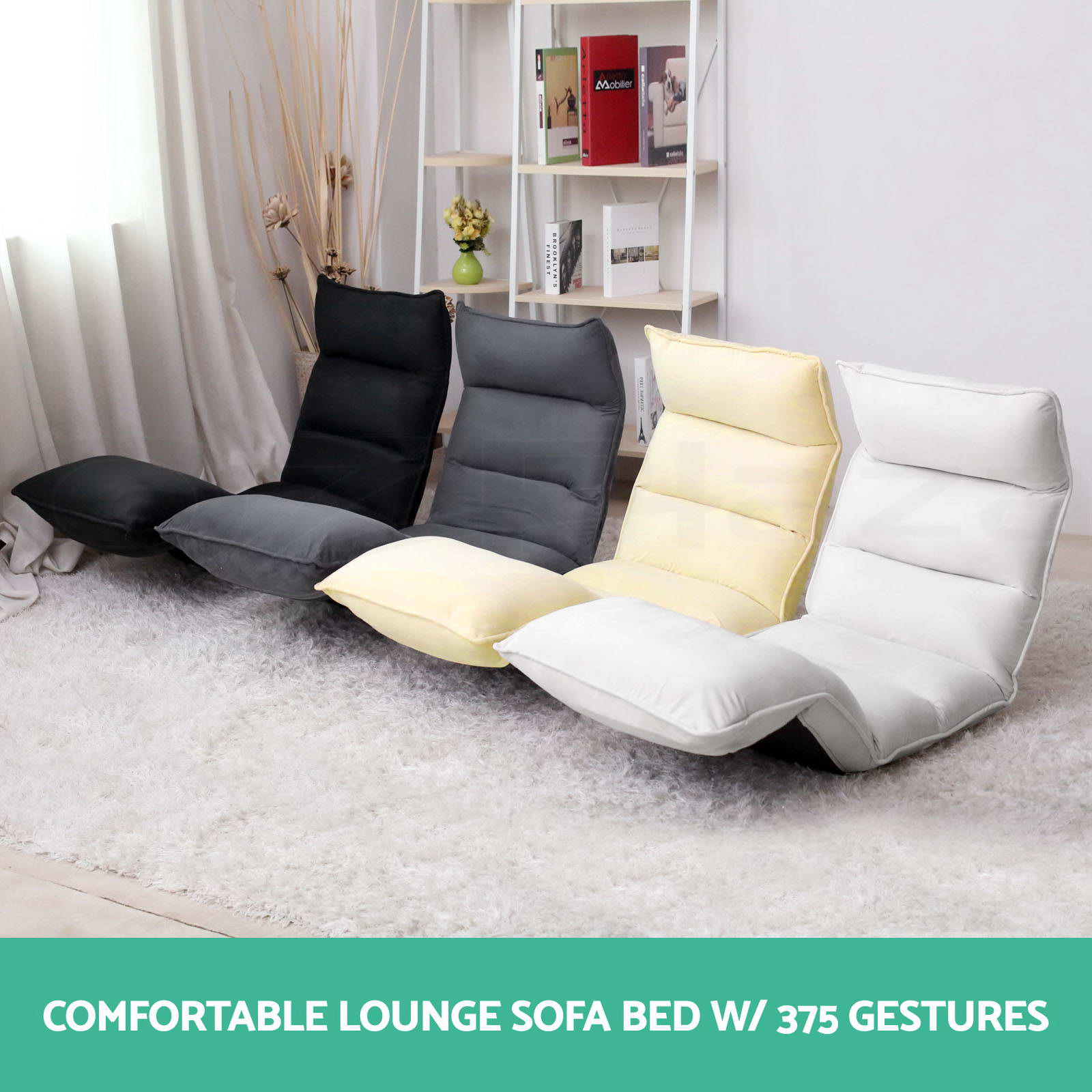 Lounge Sofa Bed Floor Recliner Folding Chaise Chair Adjustable Foldable