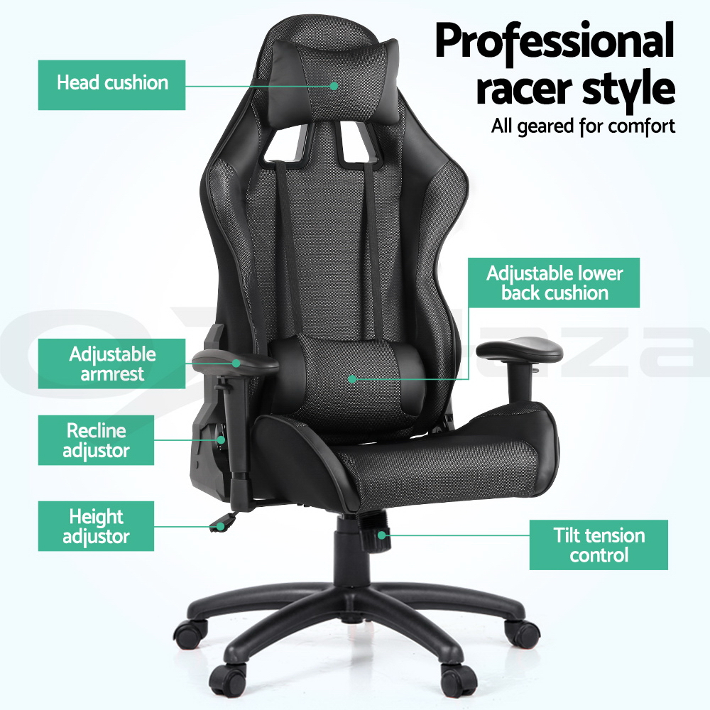 Executive Gaming Office Chair Racing Computer PU Leather Sport Seat Work Racer