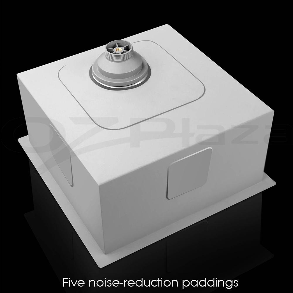 Cefito 440x440mm Handmade Stainless Steel Kitchen Sink Colander Strainer Laundry