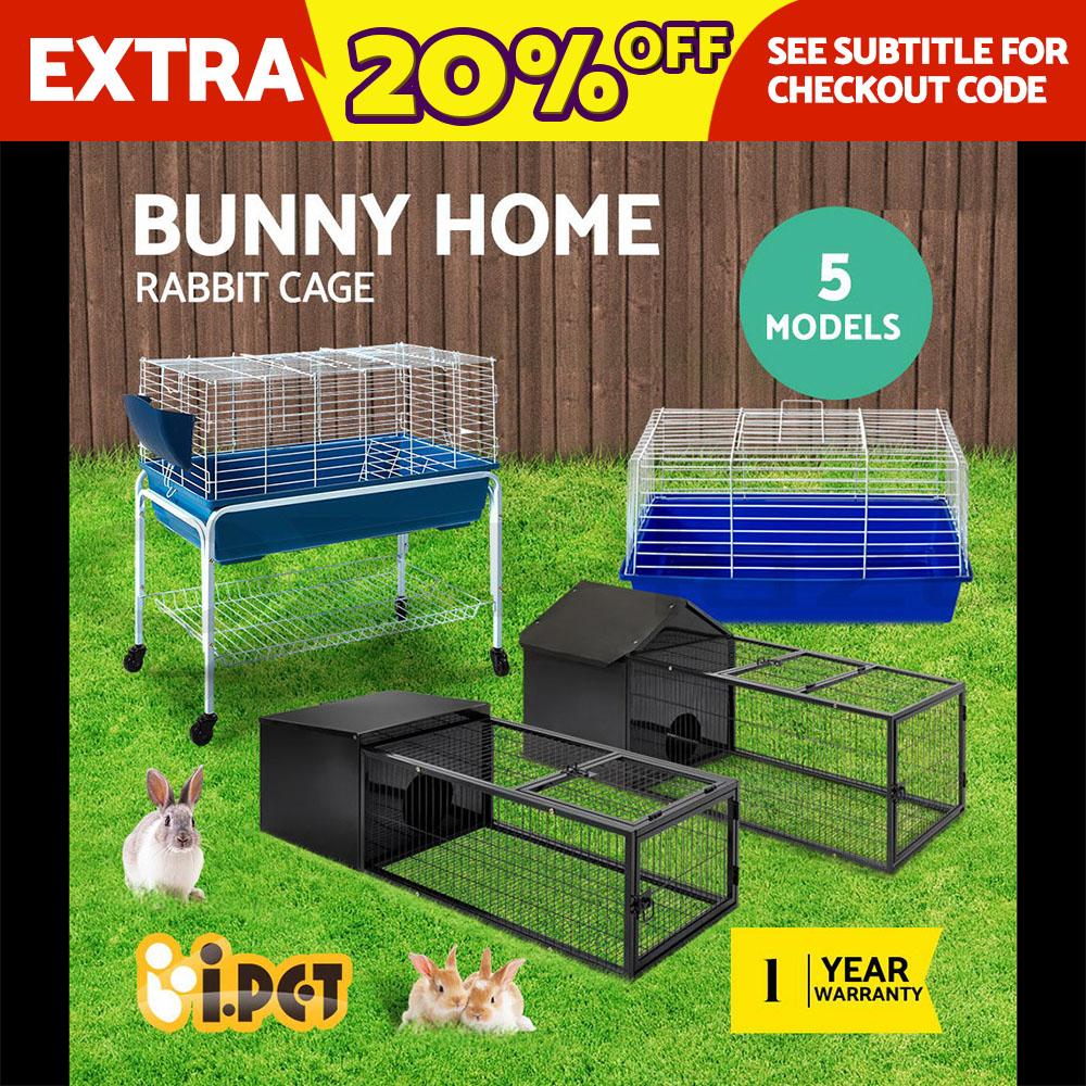 i.Pet Pet Rabbit Cage Hutch Guinea Pig House  Bunny Home Run Pen