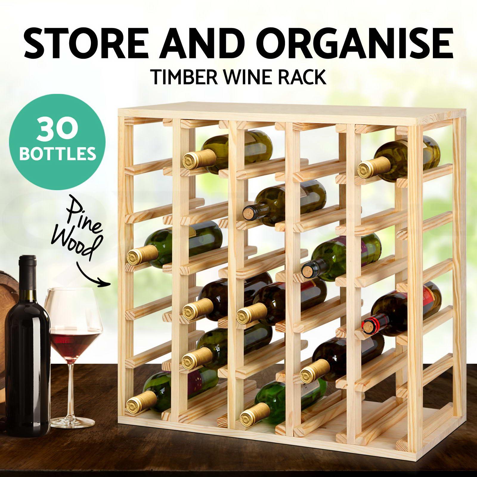 Timber-Wine-Rack-Wooden-Storage-Organiser-Stand-7-12-20-24-30-42-72-110-Bottle